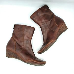 Pikolinos Brown Leather Stitched Ankle Boots 36